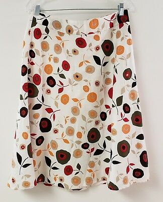c28fee6b16f Cato Womens Skirt Size 10 Polka Dot flowers Red Orange Green Lined Fun  Flirty!