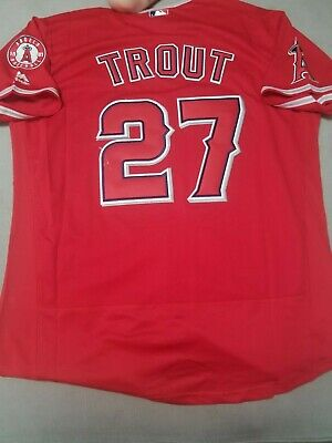 New-minor Flaw Los Angeles Angels #27 Mike Trout Youth Size 8 S Small Red Shirt Other Baseball & Softball