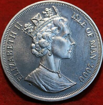 Uncirculated 2000 Isle of Man One Crown Clad Foreign Coin
