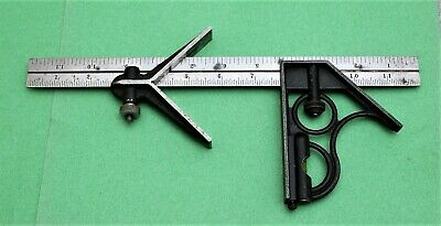 "Vintage Craftsman  Combination Square And Angle Finder W/ 12"" Steel Ruler"
