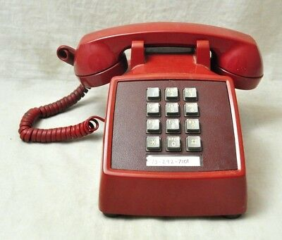 VTG Western Electric AT&T Red Push Button Phone