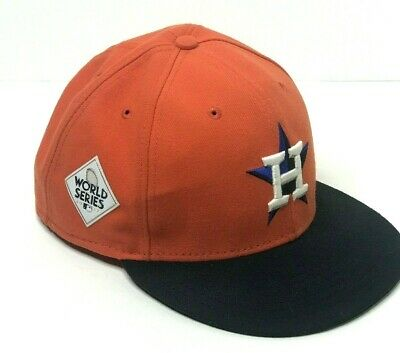 78f3b77aaad Houston Astros New Era 2017 World Series Fitted Hat Orange MLB 59FiftyNine  7 3 4