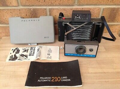 Vintage Polaroid 210 Land Camera With Instructions, Instant Cameras, Collectable