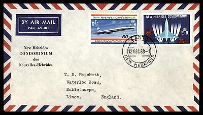 Santo New Hebrides December 12 1968 Air Mail With Anglo French Concorde Issues