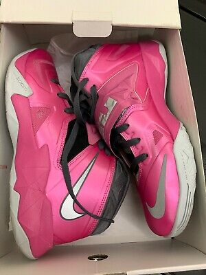 29b0dcf57f2 Nike Lebron Zoom Soldier 7 Think Pink Breast Cancer (599264-600) Size 9