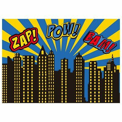 Backgrounds for Photo Studio Super Hero City Party Photography Backgrounds  YF