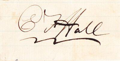 CHARLES F HALL Signed Card. Arctic explorer led 3 expeditions, died mysteriously