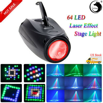 U`King RGBW 12W 64 LEDs Laser Stage Light Disco DJ KTV Party Show Bar Lighting