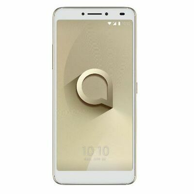 "Alcatel 3V Smartphone 6"" 12MP 4G 16GB Gold Locked to Tesco Mobile Sim Free"