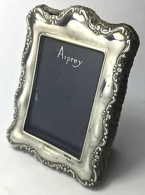 Solid Silver Asprey Embossed Square Picture Photo Frame 48.4g Sheffield 1989