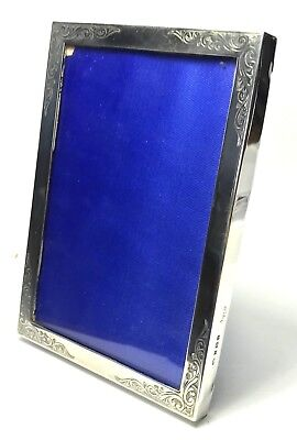 Solid Silver Asprey Engraved Square Picture Photo Frame 212g Birmingham 1989