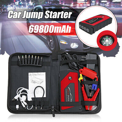12V Car Auto Jump Starter 69800mAh 4 USB Emergency Booster Power Bank Charger
