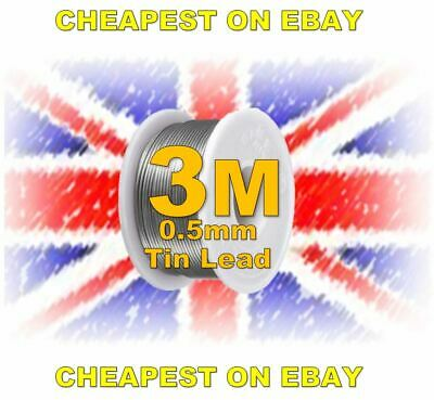 Solder Wire 3 Metres 3M 2%Flux hobbyist electronics 0.5mm SMD Soldering CHEAPEST