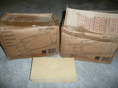 1750 CHEAP BROWN DL ENVELOPES 70GSM 1000 SEALED plus an opened box of 750