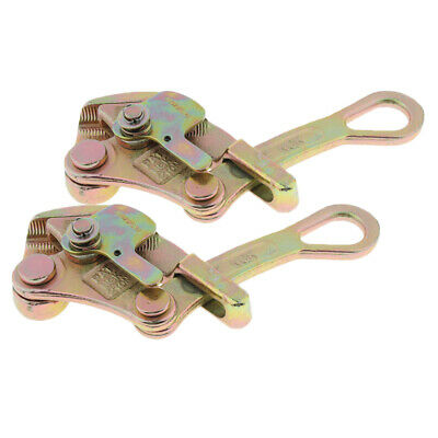 2pcs Alloy Steel Cable Wire Rope Grip Insulated Wire Grip Tensioners 2 tons