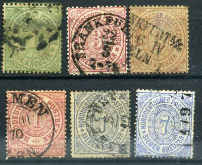 Lot Germany North Confederation 1868 - 1870, used, combine shipping 610