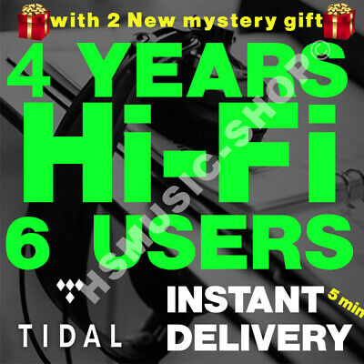 Tidal HiFi 48 MONTH / 4 YEARS  5 min instant Shipping Worldwide FAMILY PLAN