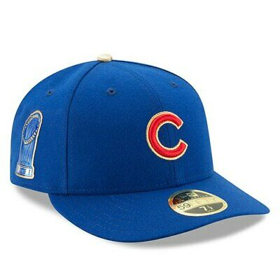 5a9fd8bdecbc8 Chicago Cubs New Era 2017 Gold Program World Series Champions Commemorative  Low