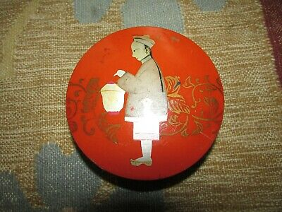 Beautiful Antique Japanese Lacquer Box With Chinese Man Ponytail & Lunch Bucket