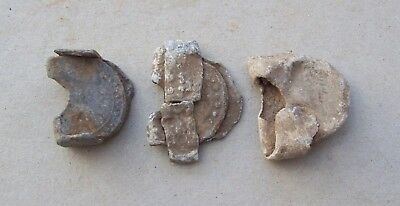 Lot of 3 Lead Flint Holders for Muskets or Pistols 1600's/1700's Detecting Finds