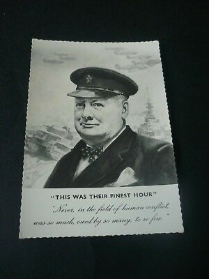 Winston Churchill postcard, This Was Their Finest Hour