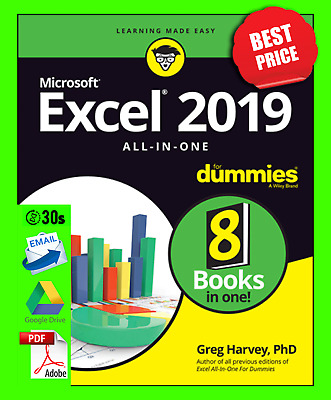 Excel 2019 🔥 Excel 2019 All-in-One For Dummies 🔥 Instant Delivery  🔥 PDF 🔥