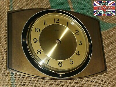 Vintage  Brass Bezel, Bolts, Convex Acrylic Glass, Brass Clock Face & Back Plate