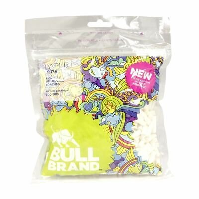 Bull Brand King Size Pre Rolled Paper Tips Cigarette Filters Roaches Rolling Tip