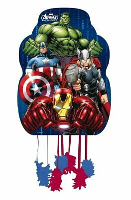 Marvel Avengers Hulk Assemble Pull String Pinata Birthday Party Game 33 x 46cm