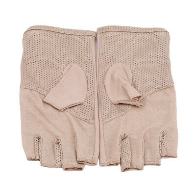 Summer Women Men Thin Fingerless Gloves Riding Half Finger Gloves Anti-skidding