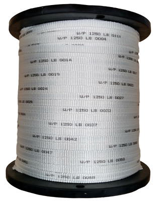 """1/2"""" Polyester Pull Tape Premium Made In USA! 1250 lb. Tensile 3000' Mule Line"""