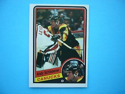 1984/85 O-Pee-Chee Nhl Hockey Card #329 Andy Schliebener Rookie Nm Sharp+ Opc