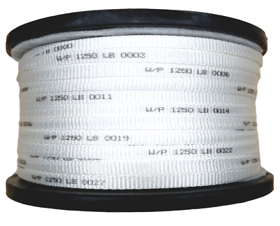 """1/2"""" Polyester Pull Tape Premium Made In USA! 1250 lb. Tensile 1500' Mule Line"""