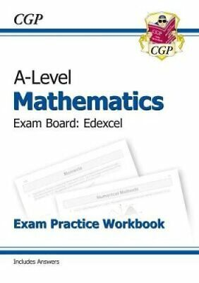 New A-Level Maths for Edexcel: Year 1 & 2 Exam Practice Workbook by CGP Books...