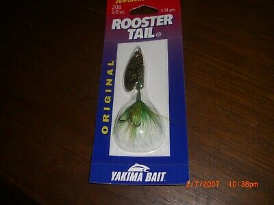 Wordens Yakima Bait 1//8 oz Crawdad Rooster Tail Spinner Fishing Lure