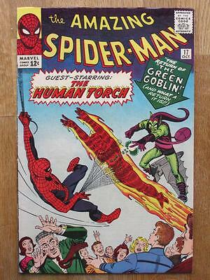 AMAZING SPIDER MAN #  17  US MARVEL 1964  Lee Ditko 2nd app Green Goblin  FN-VFN