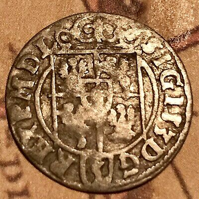 the 1623 SILVER Coin Ancient Christian Cross ? Pirate Chest Era Old Antique US