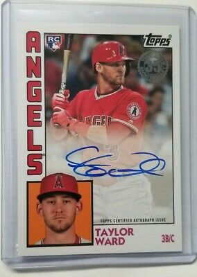 2019 Topps Series 1 1984 Topps Autograph Auto TAYLOR WARD Angels RC Rookie #TW