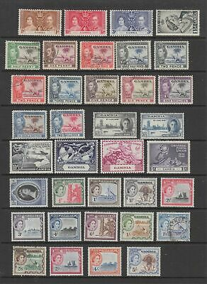 Gambia 1937 - 1959 collection, MH or fine used, 36 stamps