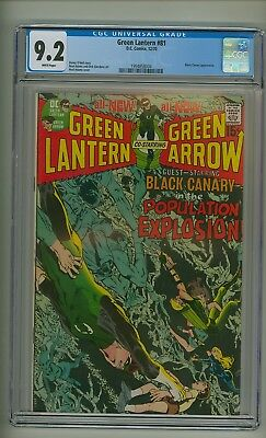 Green Lantern 81 (CGC 9.2) White pages; Black Canary; Neal Adams; 1970 (c#21838)
