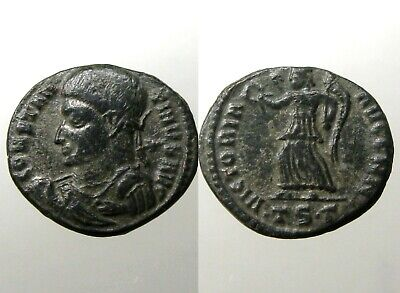 CONSTANTINE THE GREAT BRONZE FOLLIS___Advancing Victory
