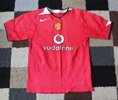 56880221116 MANCHESTER UNITED FC  Nike  (Home) Shirt 2004-2006 (Boys Childs ...