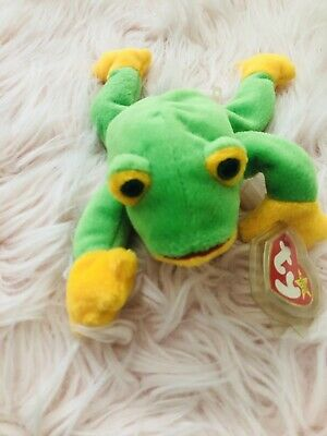 906ddded7d0 TY BEANIE BABY Smoochy the frog with TAG ERRORS 1997 Mint Condition ...