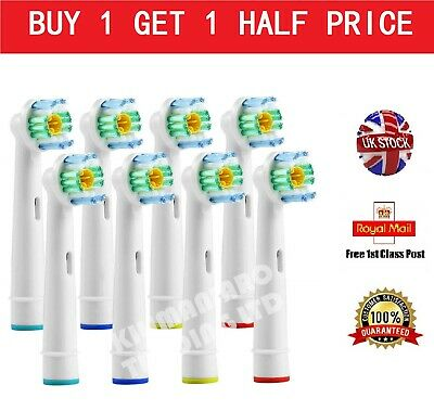 8 New Electric Toothbrush Replacement Heads Compatible With Oral B Braun Models