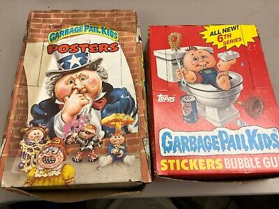LOT 2 Garbage Pail Kids 6th Series + Posters Full Box 48 36 wax packs 1986