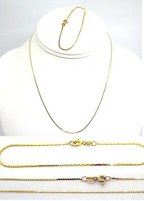 14K Yellow Gold Necklace and Bracelet  2.1 grams total
