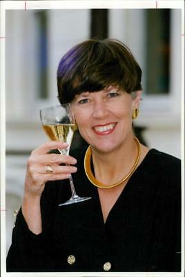 Prue Leith Chef,Veuve clicquot award 1990. - Vintage photo