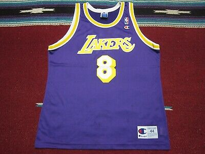 5e34f4f4c098 VTG 90s Champion NBA Los Angeles Lakers  8 Kobe Bryant Jersey Shirt Purple  44 L