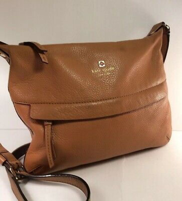 26ba2d6c2fc7 Kate Spade New York-Pebble Leather Double Zip Crossbody Bag-Saddle Brown