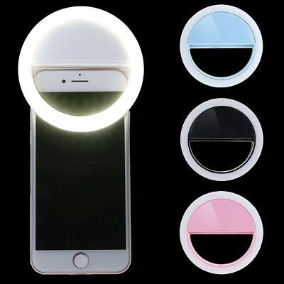 LED Clip on Selfie Light Ring Flash Camera For Smart phone Tablet iPhone Samsung